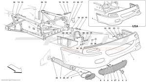 ferrari front drawing ferrari f50 body parts at atd sportscars atd sportscars