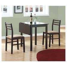 Drop Leaf Table With Chairs Dining Set 3 Piece Drop Leaf Table Cappuccino Everyroom