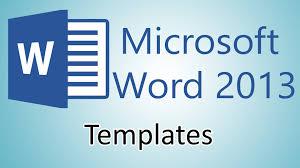 microsoft word 2013 tutorials document templates youtube