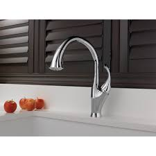 decorating wall mounted lowes kitchen faucets in brushed nickel