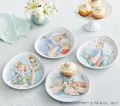 Pottery Barn Easter Eggs Beatrix Potter Egg Shaped Plates Pottery Barn Kids