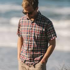 Define Tartan by The Short Sleeve California In Red Madras