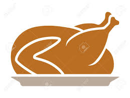 thanksgiving turkey dinner on a plate flat color icon for apps