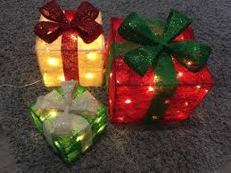 set of three light up gift boxes in totton hshire gumtree