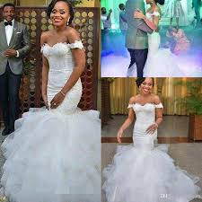 africa off the shoulder mermaid wedding dresses elegant applique
