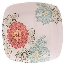 horderve plates square appetizer plates 5 5in melamine floral set of 4 threshold