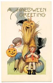vintage halloween graphic cute kids with pumpkins the graphics