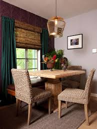 dining room rustic square textured wood dining table