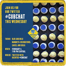 cubchat recap blue and gold decorations food and cakes cub cub