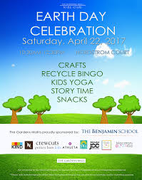 earth day celebration with the gardens mall kids club the