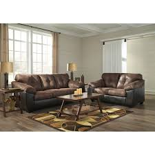 pillow arm leather sofa brown dark brown faux leather sofa with pillow arms by signature
