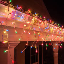 red white icicle lights christmas icicle light 150 multi red green pink blue yellow