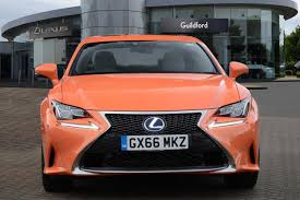 lexus sport orange used 2016 lexus rc 300h 2 5 f sport 2dr cvt auto sunroof prem nav