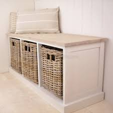 3 basket storage unit bench bliss and bloom ltd diy home decor