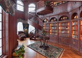 Beautiful Home Libraries by The Stunning Cherry Wood Library Boasts Wall To Wall Bookshelves