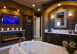 decorating ideas luxury bathroom marble with fireplace and tv u2013