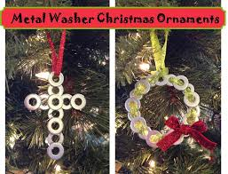 Christmas Ornaments Craft Projects by Inspired Whims Metal Washer Christmas Ornaments