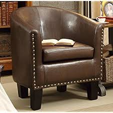 Armchair F 51 Amazon Com Simpli Home Austin Faux Leather Accent Tub Chair Red