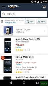 amazon black friday leaked amazon listing leaks competitive nokia 8 pricing for india