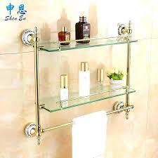 Bathroom Shelves Glass Glass Bathroom Shelves Instat Co