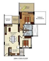 Residential Plan Residential Apartments Floor Plans Site Plan 2 Bhk U0026 3 Bhk