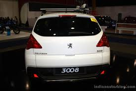 peugeot cars philippines peugeot 3008 rear at the philippines motor show 2014 indian