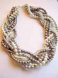 chunky pearl crystal necklace images Braided pearl necklace statement pearl necklace twisted pearl jpg