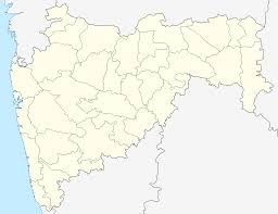 Maharashtra Blank Map by Nagpur