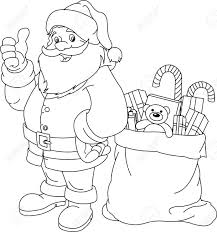 coloring pages of santa claus christmas new year new glum me
