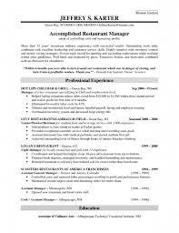 Resume Manager Sample Restaurant Manager Resume Samples Pdf Resume For Your Job