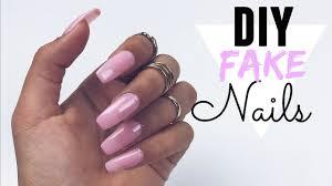 diy easy fake nails no acrylic youtube