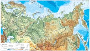 Physical Maps Maps Of Russia Detailed Map Of Russia With Cities And Regions