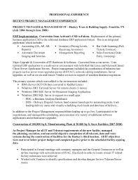 project manager resume sle sle resume implementation project manager 28 images it project