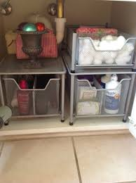 Bathroom Counter Storage Ideas Bathroom Silver Metal Shelves Under Sink Organizer For Bathroom