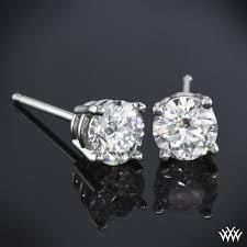 real diamond earrings four prong diamond basket earrings ready set to go 1353