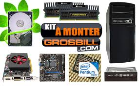 monter ordinateur de bureau grosbill kit pc à monter big boost intel i3 2100 3 1ghz gb104