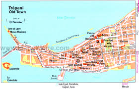 Italy Cities Map by Trapani Sicily Italy Cruise Port Of Call