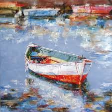 Painting Boat Interior Buy Oil Painting Boat At The Pier On Livemaster Online Shop