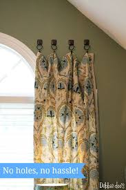 How To Make Curtains Hang Straight How To Hang Curtains With Towel Hooks Hanging Curtains How To