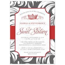 fancy invitations sweet 16 party invitations fancy crown