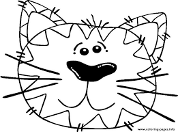 abstract cat animal s0c5b coloring pages printable