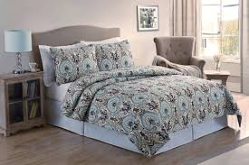 Blue Bed Set Bedroom Wonderful Decorative Bedding Design With Cute Paisley
