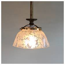 chandeliers vancouver a1530 etched glass shade pendant bogart bremmer u0026 bradley antiques