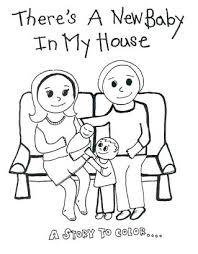 free printable coloring book u0027s baby house u2014