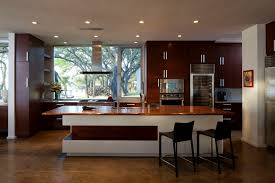 modern wooden kitchens simple modern kitchen ideas with white tile and brown floor 3699