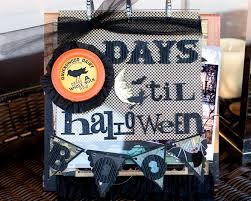 halloween mini scrapbook album u0026 halloween countdown calendar
