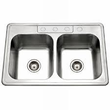 Kitchen Sink Brand Houzer Glowtone Series Drop In Stainless Steel 33 In 4