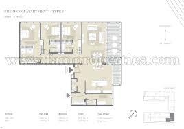 4 Bedroom Apartment Floor Plans Charming 4 Bedroom Apartment Floor Plans 5 City Walk Building 5