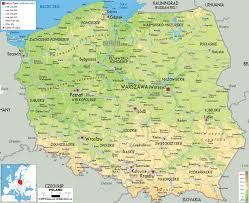 Geographical Map Of Europe by Maps Of Poland Detailed Map Of Poland In English Tourist Map