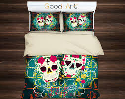 Day Of The Dead Bedding Skull Bedding Etsy